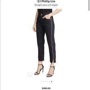 3.1 Phillip Lim Straight Jeans side Zipper 8 new